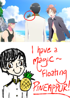 Japan And His Magic Floating Pineapple~ by LiliumLief
