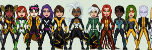 Women of the X-Men by GEEKINELL