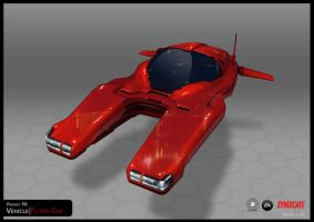 SYNDICATE concept - hover car red by torvenius