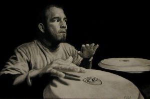 Caught In the Rhythm-charcoal by dryand09