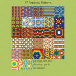 Rainbow Seamless Patterns by HGGraphicDesigns