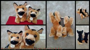 Aurora Miyoni German Shepherds 11in and 8in by Vesperwolfy87