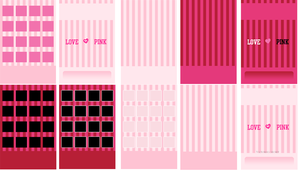 Victoria's Secret Pink iPod iPhone Wallpaper Pack by CupcakeyKitten