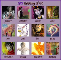 A Year of Art - 2012 by Keitana