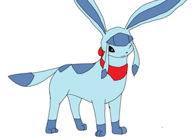 Everheart the Glaceon by XfangheartX