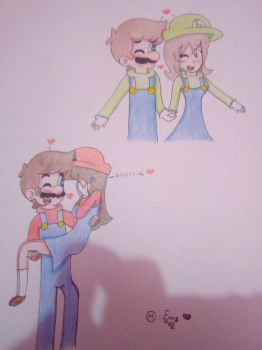 A little gift: Marely and Maruigi :3  by ForeverfanMarioBros