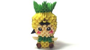 3D origami pineapple kid by Girnelis