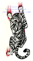 Blue Eyed White Tiger Tattoo Commission by InsaneRoman