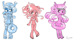 Long Haired Beach Beauties by princelupin
