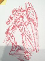 Gundam (speed sketch) by tiffanYuhan