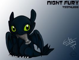 Toothless by ElaineyYong