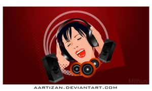 Enjoying music by Aartizan