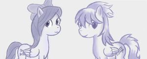 Ask Cloud Chaser and Flitter New Style Practice by rko509