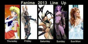 Fanime 2013 Cosplay Line Up by ForeverAdel