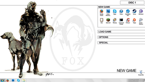 MGS Big Boss Clean Menu Desktop by DJCoulz