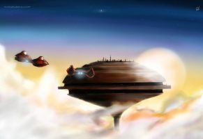 Welcolme to Cloud city by RTOneBlueWolf