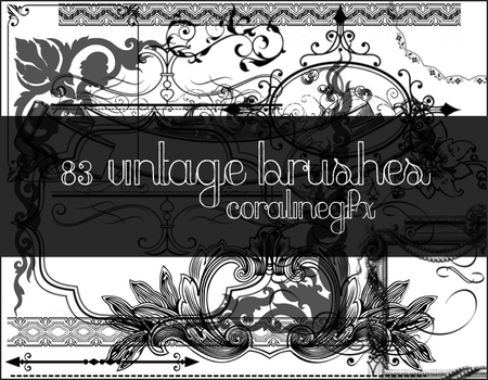Vintage brushes [83] by CoralineGFX