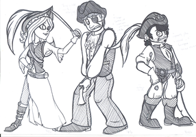 Dan Vs. - Pirate Dan and his Comeuppance Crew by AllHailWeegee