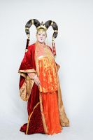 Queen Amidala    Red Senate Gown by Deviant-Mutha