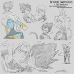DBZ - Beyond two Souls - Sketches Part 1 by RedViolett