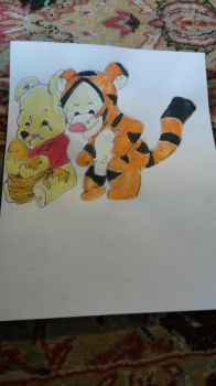 Tigger and Pooh by ARaeann123