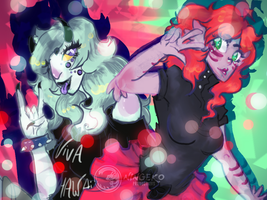 Two monster babes edited-2 by Ningeko16