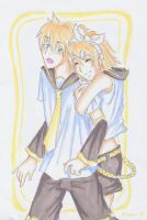 Len and Rin by BirdChild