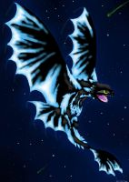 Glowing Night Fury by SnowstormSpirit2285