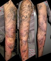 Sleeve of Songbirds by catbones