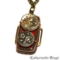 Steampunk Pendant by CatherinetteRings