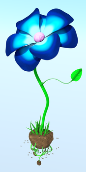 Blue Flower by Autonomous-Ink