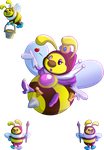 Mario Collab: The Honey Queen by MudSaw