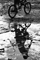 The Cyclist by Henzonlee