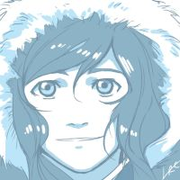 Korra in Blu by CarishinLove