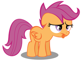 Scoots looks tired. by RedtoxinDash