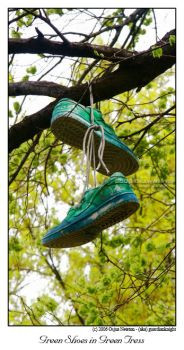 Green Shoes in Green Trees by guardianknight