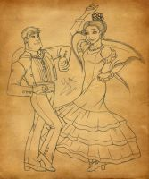 BuzzxJessie dancing flamenco by Violette-Aner