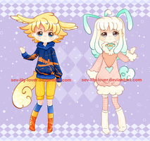 Adorable Kemonomimi Adoptables[OPEN] Points-Paypal by SevLily-Adoptables