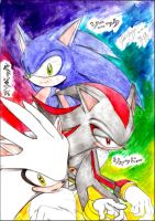 Sonic Shadow Silver by goldhedgehog