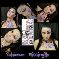 Pokemon Makeup series - MissingNo by Luthy-Lothlorien
