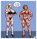 Confrontation by LovBlondGirlMuscled