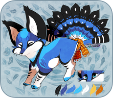 Bluejay Foxfan Custom by Belliko-art
