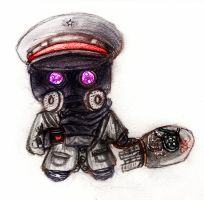 Ze Capatin chibi sketch by IllTakePoint