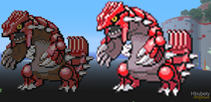 Groudon - Minecraft Art by HbubelyArtForms