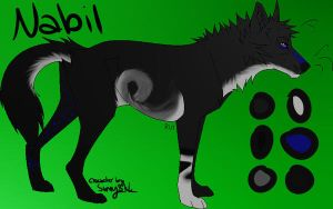 Nabil - New Reference Sheet, New Design. by SunnyBlub