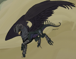 Flight Rising Commission 01: Antiviral by selkie-gal