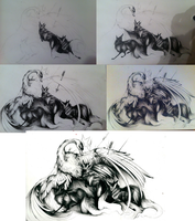 Divine Protection Ink step by step by RubisFirenos