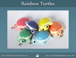 Rainbow Turtle Charms by ShinyCation