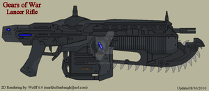 Gears of War Lancer Rifle by Wolff60
