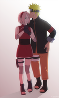 NaruSaku - Let me kiss you by Kaschra